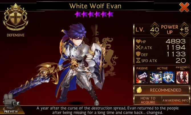 evan awaken hero