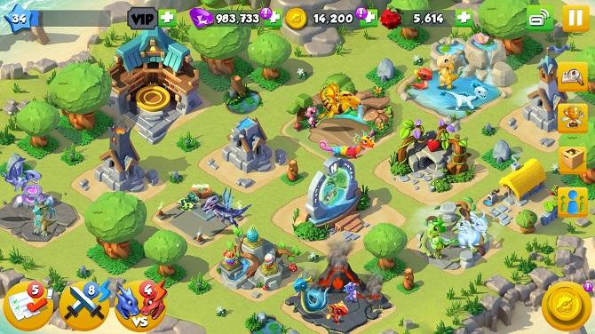 dragon mania legends gameplay