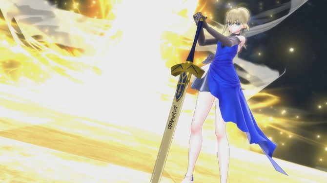 fate extella gameplay