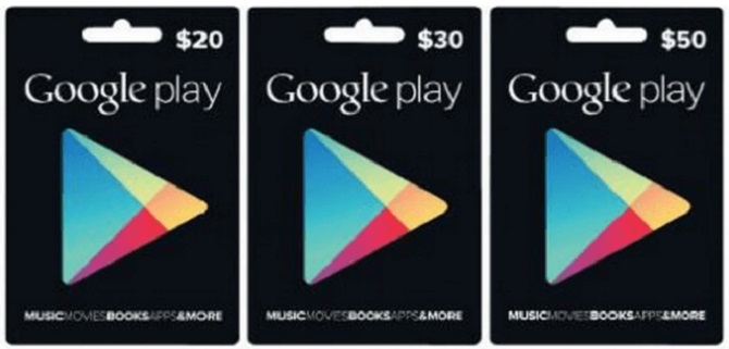 playstore gift card
