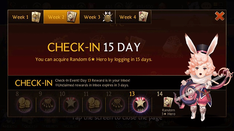 seven knights daily check in