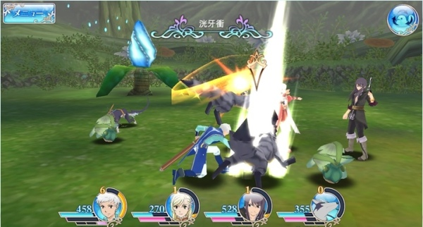 tales of the rays gameplay battle
