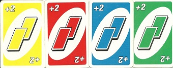 uno plus two card