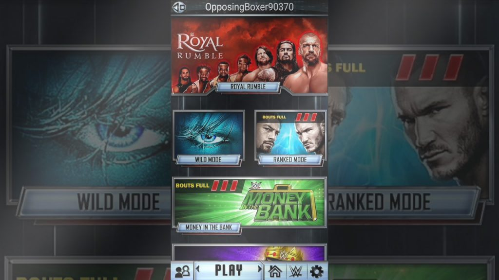 wwe supercard game modes