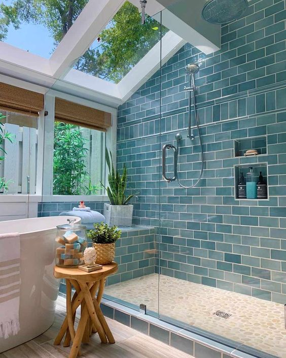 blue bathroom interior design