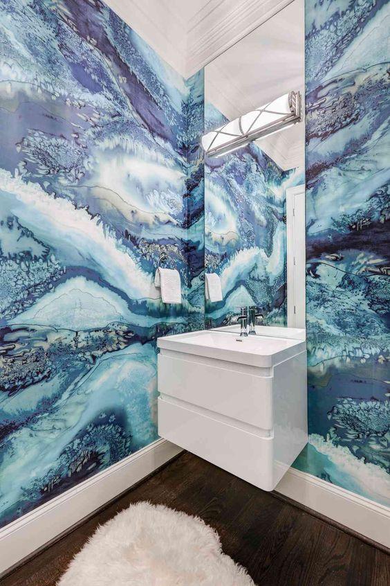 Nautical bathroom tile ideas